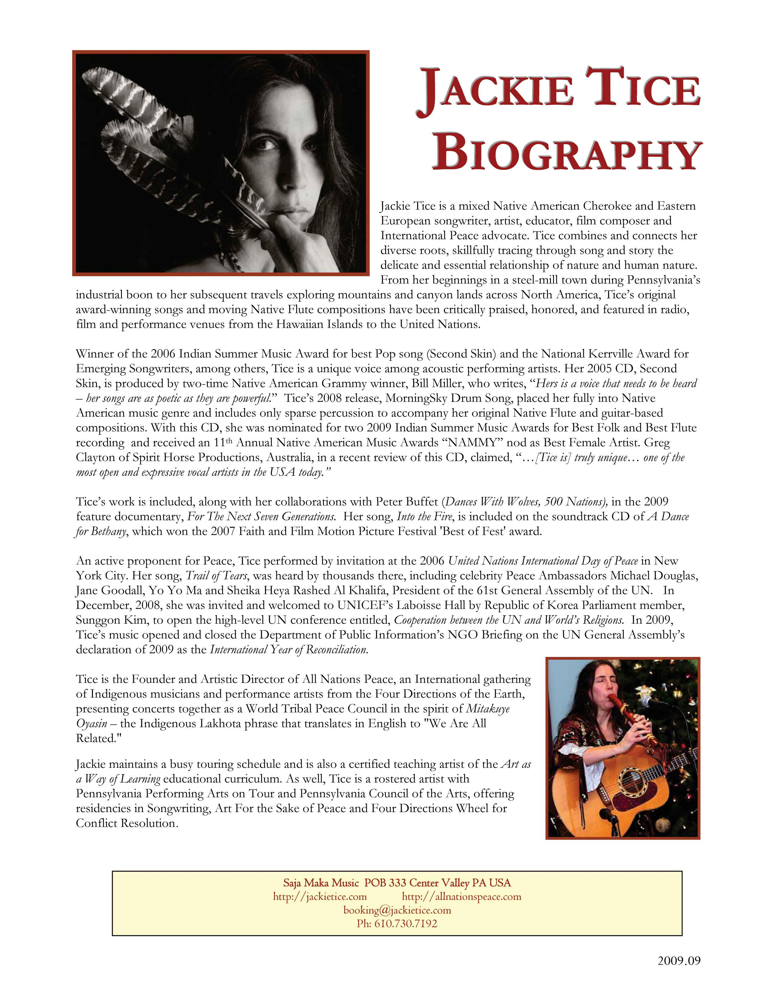 Jackie Tice - singer / songwriter - Anatomy of a Songwriter